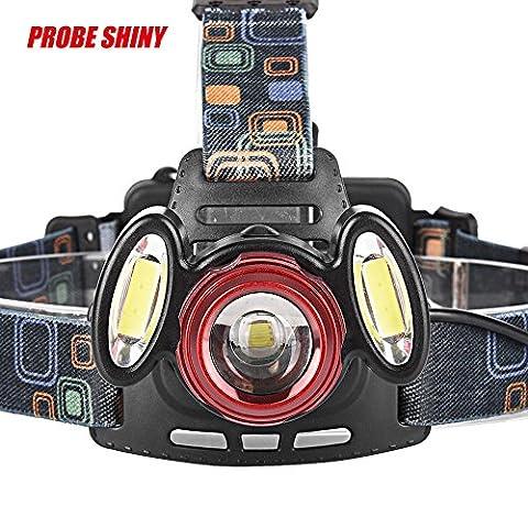 8000LM Head Light happytop 3x XML T6LED Scheinwerfer Scheinwerfer Schwanz Lampe Wasserdicht mit verstellbarem Riemen, damen Herren, Only Headlamp