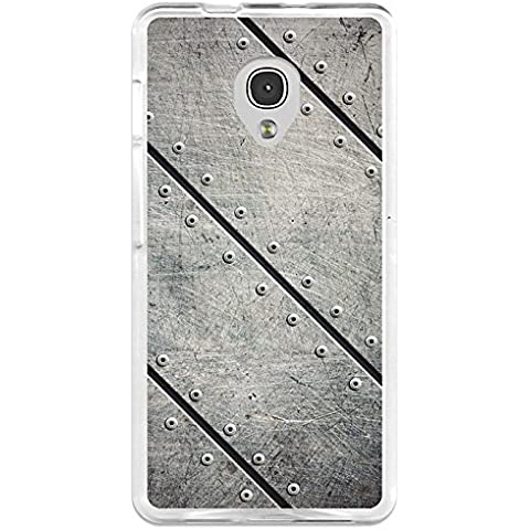 Funda Gel Alcatel OneTouch Pop Up BeCool Placas Metal Remaches