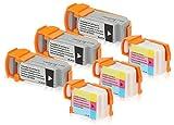 6 Druckerpatronen kompatibel zu Canon BCI-11 (3x Schwarz, 3x Color) passend für Canon BJC-50 BJC-55 BJC-70 BJC-80 BJC-85 BJC-85-W BJ-M-40 BJ-M-70 Color-Stylewriter-2200 Compri-BN-700-C Compri-BN-700 Compri-BN-700-3 Compri-BN-700-4 Compri-BN-700-4-D Compri-BN-750 IJ-80 LR-1-Printstation