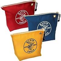 Klein Tools 5539cpak bolsas de tela con cremallera, varios colores (Pack de 3)