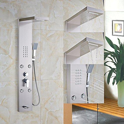 Montaggio a parete bagno doccia pannello doccia monocomando con doccetta rubinetto miscelatore Multi