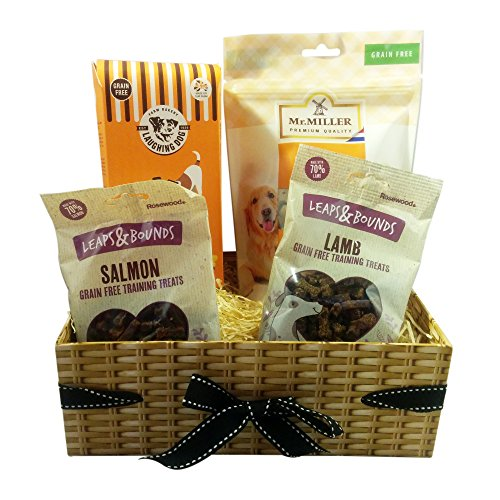 Dog Gift Basket - A dog gift hamper with dog treats. Birthdays/Christmas Dog Treats. (Grain Free)