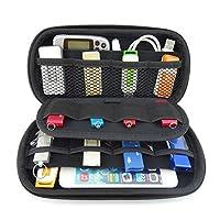 Vzer Multifunction Big Capability USB Flash Hard Drives Case Bag for U Disk USB Drive SD Memory Card with Credit Card Slot Holder, Black