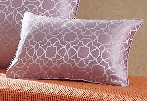 Pimpamtex cuscini con imbottitura tipo marsupio confezione 2cuscini da decorazione per casa, salotto, cameretta, sedie, divano e letto, 30x 50cm, modello jacquard maya 30_x_50 malva