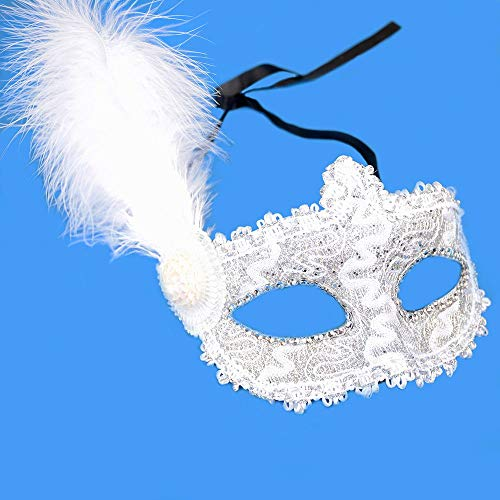 HITSAN INCORPORATION Sexy Venetian Feather Lace Flower Eye Mask Masquerade Costume Party Mask
