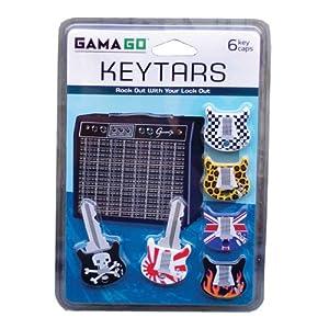 Gama Go Keytars - Fundas protectoras para llaves con diseño de guitarra de Gama-Go