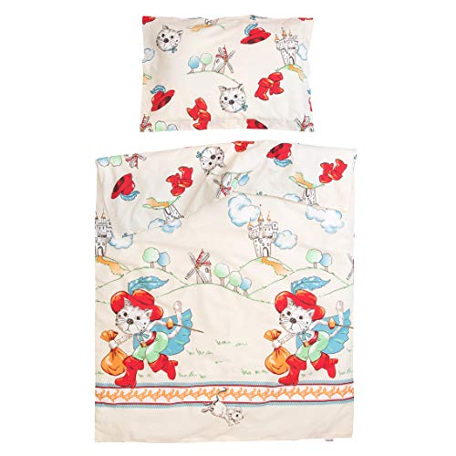 e Kater - Pati'Chou 100% Baumwolle Baby Bettwäsche (Bettbezug 80x80 cm und Kissenbezug 35x40 cm) ()