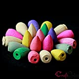 #9: eCraftIndia Pack of 60 Backflow Incense Cones in Rose, Jasmine and Lavender Scent for Backflow Incense Burners