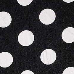 GALERIAS MADRID Tela Satén Lunar Grande Blanco - Fondo Negro