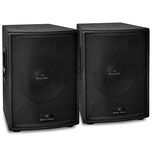 Auna PA Lautsprecher Paar aktive PA-Boxen (2x 38cm Subwoofer, 2 x 1000W RMS, Monitor-Aufbau) schwarz