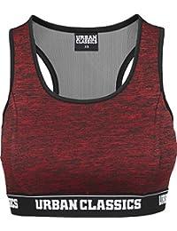 Urban Classics Ladies Active Melange Logo Bra, Soutien-Gorge de Sport Femme