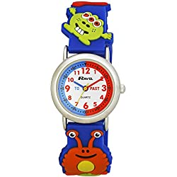 Ravel Cartoon Monsters 3D Watch with Timeteacher Dial Children's Quartz Watch with White Dial Analogue Display and Multicolour Plastic Strap R151360