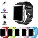 JSGJSH Schickes Armband A1 Smart Watch Passometer Armbanduhr mit Touchscreen Kamera Support Sim-TF-Karte Bluetooth smartwatch für Android IOS Telefon - Rosa