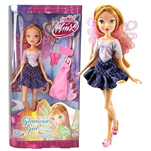 Winx Club Flora | Glamour Girl Puppe World of Winx | Mit Mode-Accessoires