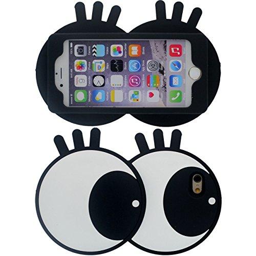 Original Entwurf Niedlich 3D Cartoon Stil Augen Gestalten Weich Silikon Schutzhülle Handy Hülle Case für Apple iPhone 7 Plus 5.5 inch Schwarz