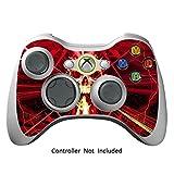 Xbox 360 Controller Designfolie Sticker - Vinyl Aufkleber Schutzfolie Skin für Xbox 360 Controller - Skull Dark Red
