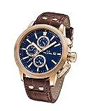 TW Steel 'CEO Adesso' Quartz  Casual Watch, Color:Brown (Model: CE7017)
