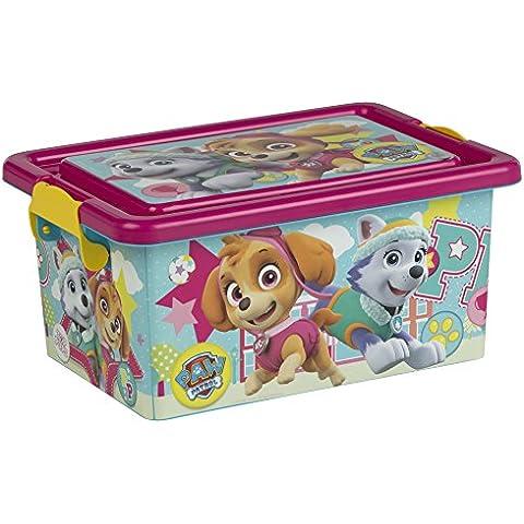 ColorBaby - Caja ordenación Skye & Everest, Paw Patrol, 7 litros, 32 x 23 x 15 cm (76764)