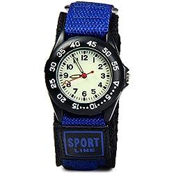 ETOWS® Kids My First Outdoors Watch Children Watches Quartz Wrist Watches Waterproof Watches (Blue)