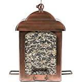 Perky-Pet Mangeoire à oiseaux anti-écureuil avec 4 perchoirs - Lanterne en cuivre ancien à suspendre pour décorer votre jardin - Capacité max. 1,1 kg de graines  #365