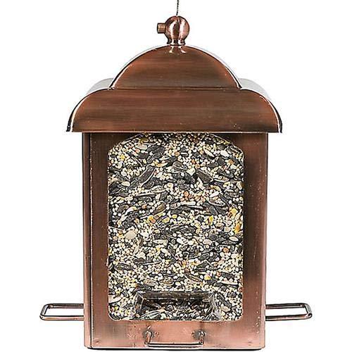 Perky-Pet Laternen-Vogelfutterspender für Wildvögel in Antikkupfer / Hängende Futterlampe / Füllkapazität 1,1 kg / Mod. 365 -
