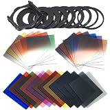 Ensemble 24 pièces filtres progressifs + carrés complets + 9 bagues d'adaptation Pour Cokin P Série Series LF78