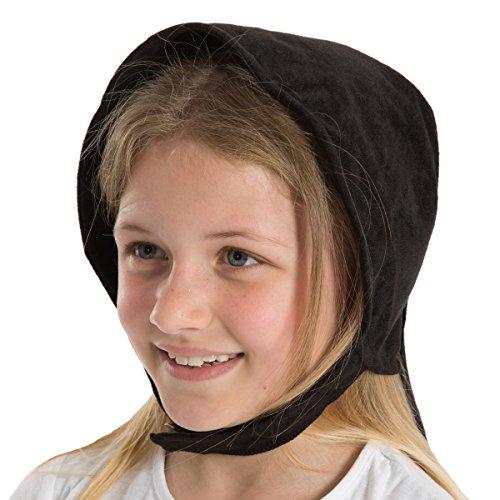 Crow Girl Kostüm The - Black Victorian Edwardian Girls fancy dress Bonnet
