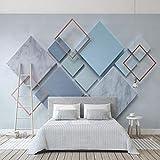 LONGYUCHEN Benutzerdefinierte 3D Seide Wandbild Tapete Geometrische Muster Marmor Mosaik Geeignet Für Schlafzimmer Wohnzimmer Sofa Tv Hintergrund Wand Dekoration Wandbild,60Cm(H)×120Cm(W)