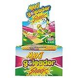 Goleador Maxi Shock, la Doppia Caramella Gommosa Ricoperta di Zucchero, Box da 130 Pezzi, Frizzante con Gusti Assortiti, 2 Caramelle per Incarto, Ideale per Feste per Bambini