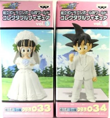 034 Goku (girlfriend) + DB Kai Chi Chi 033 prefabricated Dragon Ball Kai World collectible Figure vol.5 DB Kai (boyfriend) (Japan import / The package and the manual are written in Japanese)
