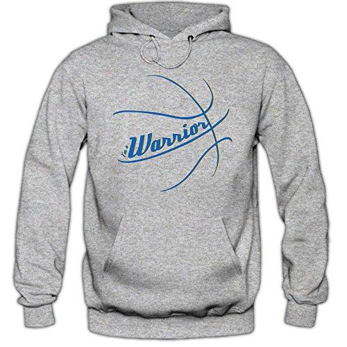 Shirt Happenz I'm a Warrior #3 Hoodie Basketball Hoodies Streetball USA Kapuzenpullover, Farbe:Graumeliert (Greymelange F421);Größe:XL (Air Bbb)