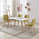 Wood Rectangular Dining Table with 4 Retro Metal - Best Reviews Guide