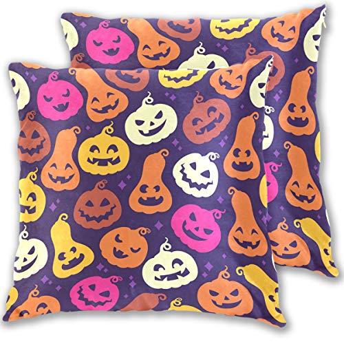 ISAOA Halloween-Kissenbezüge mit Kürbis-Kissenbezüge, Halloween-Kostüm, quadratisch, für Haus/Schlafzimmer/Büro (Kissenbezug Kürbis Kostüm)