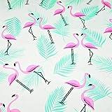 Flamingo 100% Baumwolle Baumwollstoff Kinderstoff Meterware