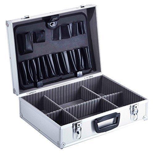 Preisvergleich Produktbild Universalkoffer Alukoffer Werkzeugkoffer Sortimentskoffer Präsentationskoffer Meeting Koffer silber
