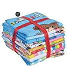 Style Urban Soft Poly Cotton Kids Cartoon Print Face Towel set of 12 pcs.