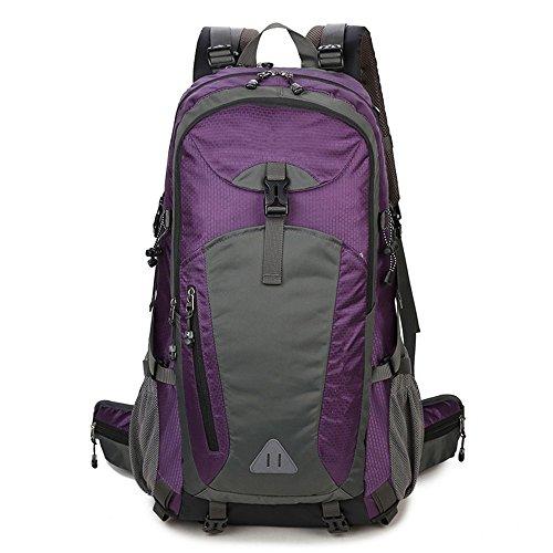 BergsteigenTascheUmhängetascheMännerundFrauenreitenTascheTravelTaschegroßenKapazitätWandernRucksack(40L), Pink(50L) Purple (40L)