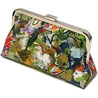 Einzigartige Clutch, Handtasche, Clutch original abstrakte Kunst, handbemalt, Exclusive on line von BeccaTextile.