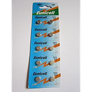 10 X AG3 Button Cell Batteries AKA SG3 LR41 192 / 384 / 392