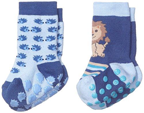 Twin 17 (Twins Baby - Jungen ABS Socken im 2er Pack, Gr. 18 (Herstellergröße: 17-18), Blau (blau 113))