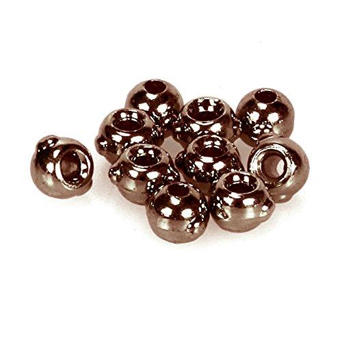 taimen Fliegenbinden Wolfram nymphenperlen mit Augen Mehrfarbig Black (10) 4.0 mm (Wolfram Fly Tying Beads)
