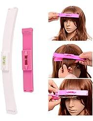 2 PCS Pour pointes et franges Kit de Outils de bricolage Coiffure Aide coupe cheveux