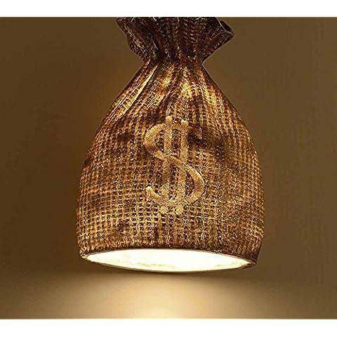 SSBY Diseño creativo de restaurantes bares cafeterías resina colgante, personalizada ropa dinero bolsas tienda den vintage lámparas , A