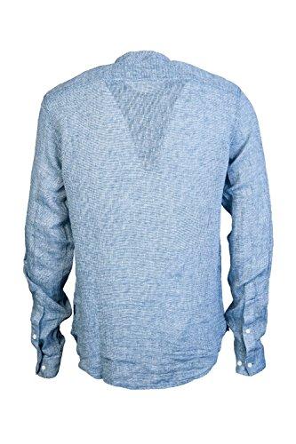 Armani Herren Freizeit-Hemd Blau