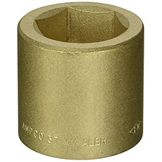 Ampco Safety Tools SS-3/4D37MM Socket, Standard, Non-Sparking, Non-Magnetic, Corrosion Resistant, 3/4