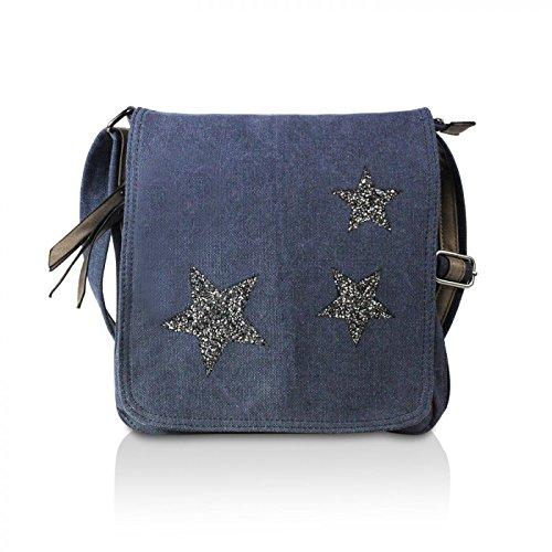 Glamexx24 Elégant HANDLES- style de laque sac à bandoulière similicuir Noir
