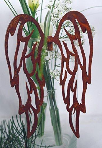filigrane Rost Flügel zum Einhängen in Gläser Höhe 18 cm