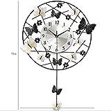 Unbekannt Wohnzimmer Kreative Wanduhr Art Deco Uhr Schlafzimmer Mute Runde Butterfly Clock