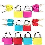 Lucchetto 8 pezzi colorati piccoli lucchetti con chiave per zaini Computer Bags Toolbox e altri colori facilmente distinguibili.