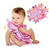 manta INCHANT Soft Touch Consolador con Taggies - Tag consolador / Comfort Manta, gran regalo para el niño del bebé (flor combinada Taggie, paquete de 2)